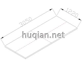 实心理画板第三种尺寸规格为3050*1220