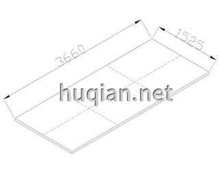 理画板第五种规格尺寸为3660*1525