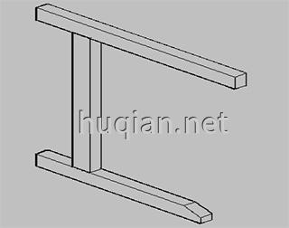 钢木实验台结构分解图一