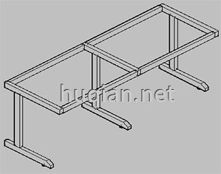 钢木实验台结构分解图三