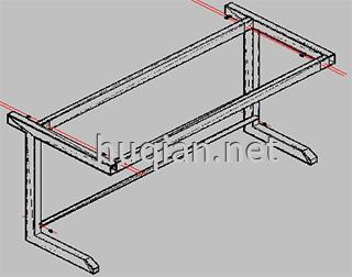 钢木实验台结构分解图四