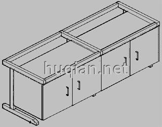 钢木实验台结构分解图六
