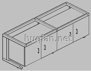 钢木实验台结构分解图七