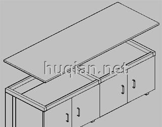 钢木实验台结构分解图八