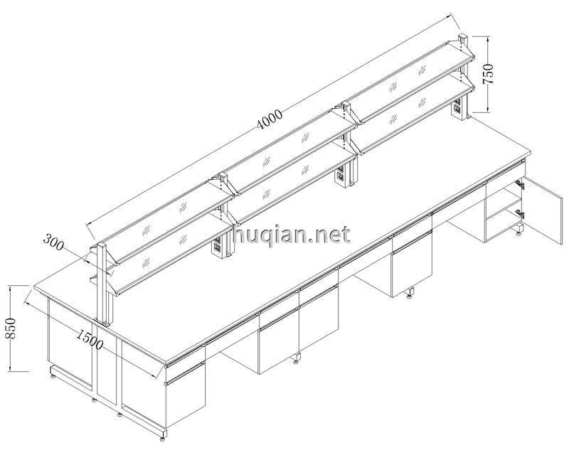 中央实验台CAD结构图