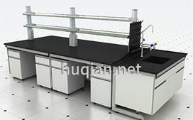 优质中央实验台带龙头水槽试剂架