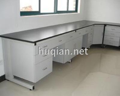 沪前实验室厂家为庆阳环境监测站生产的钢木实验边台