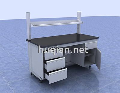 边台用单层钢玻试剂架