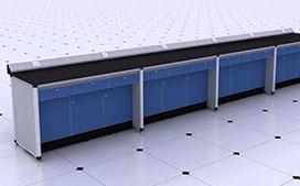 上海铝木实验台公司制造的实验室铝木学生桌