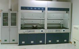 上海沪前实验室通风柜生产厂家定制的带水槽通风柜