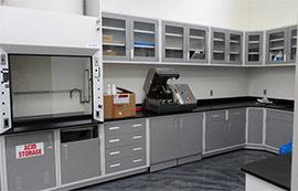 上海沪前实验室操作台厂家生产的实验台边台带水池