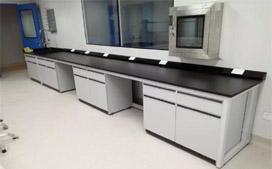 上海沪前实验室操作台厂家生产的优质钢木试验台边台