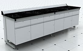 上海沪前实验室操作台厂家生产的优质河池钢木实验边台