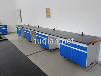 上海沪前实验室操作台厂家生产的优质钢木结构实验边台