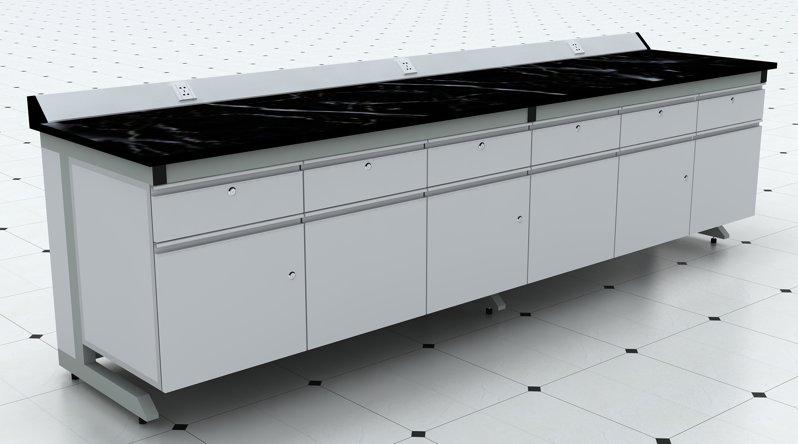 上海沪前实验室操作台厂家生产的优质钢木实验边台柜