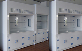 上海沪前实验室通风柜生产厂家定制的pp材料台式通风柜