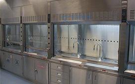 上海沪前实验室通风柜生产厂家定制的医院用的不锈钢通风柜