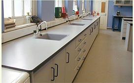 上海沪前实验室操作台厂家生产的带水槽实验桌