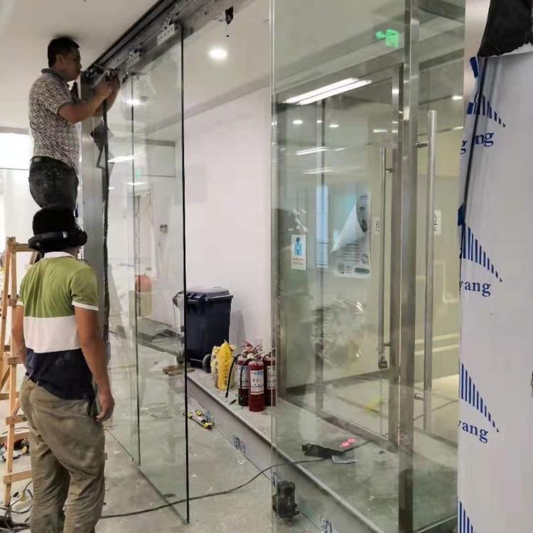 龙泉自动感应门厂电话 安装玻璃感应门 指纹门禁玻璃门