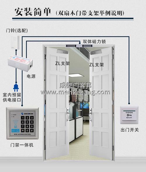 1门禁电插锁工作原理,电子门禁电插锁系统安装维修图