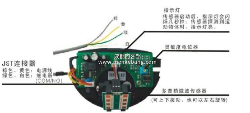 自动门感应器如何接线2