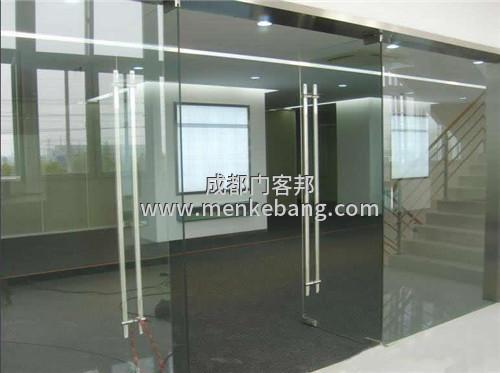 成都商铺玻璃门安装案例