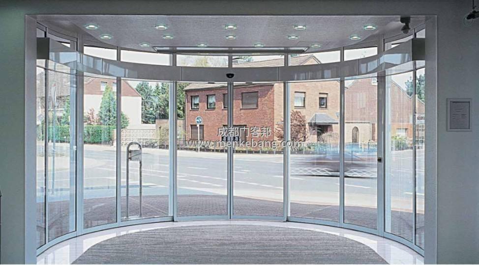 成都弧形感应自动门,弧形玻璃自动门,弧形玻璃感应自动门