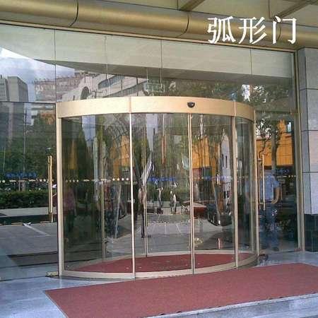 玻璃電動弧形門