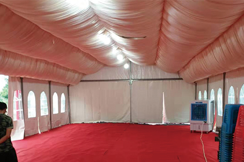 8x33 Outdoor Red European Steel Wedding Tent