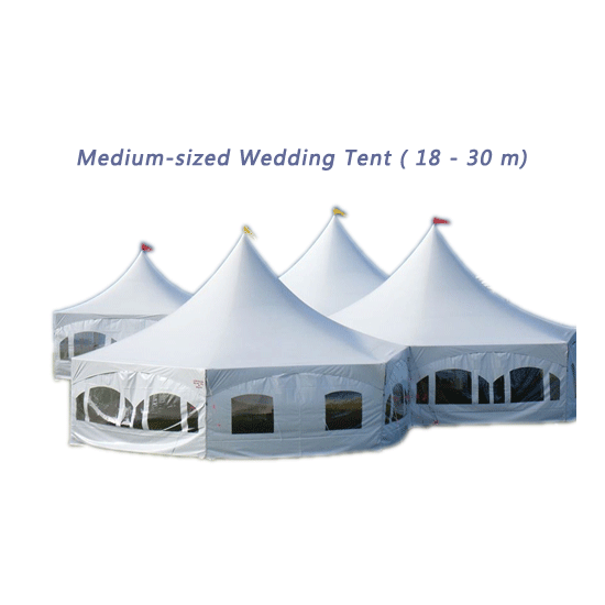 Medium-sized Wedding Tent (18 - 30 m)