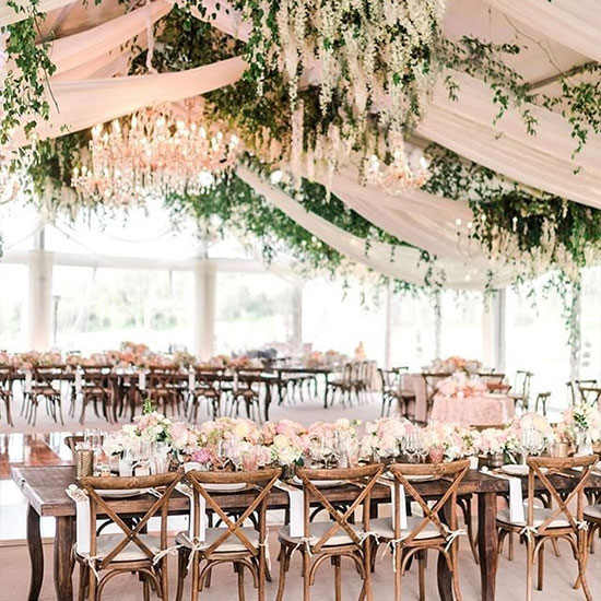 Wedding tent decoration - Flowers
