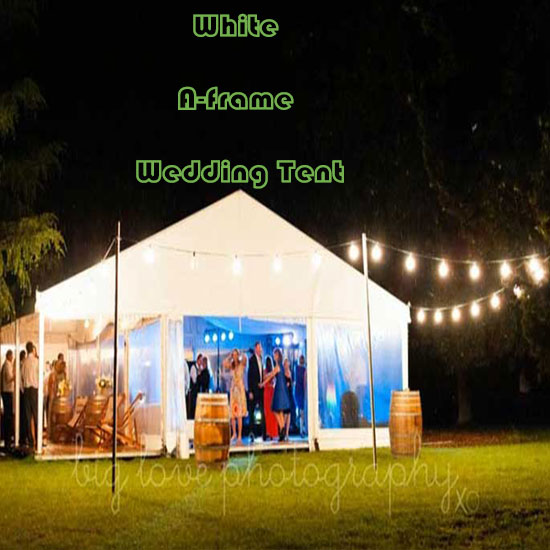 White A-frame Wedding Tent