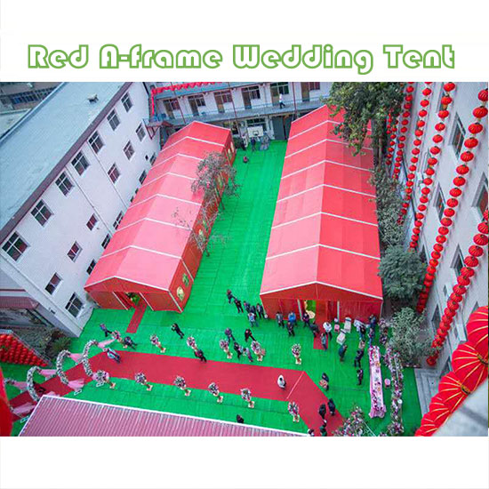 Red A-frame Wedding Tent