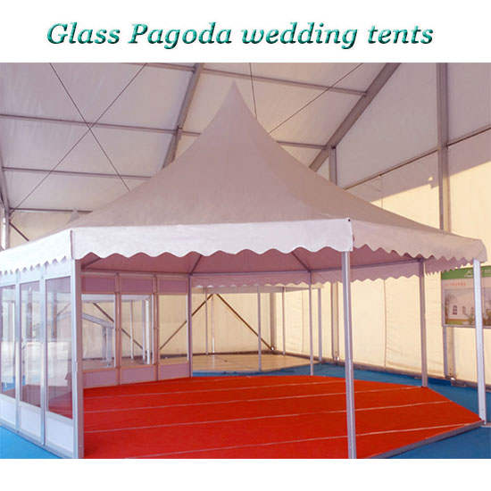 Glass Pagoda wedding tents