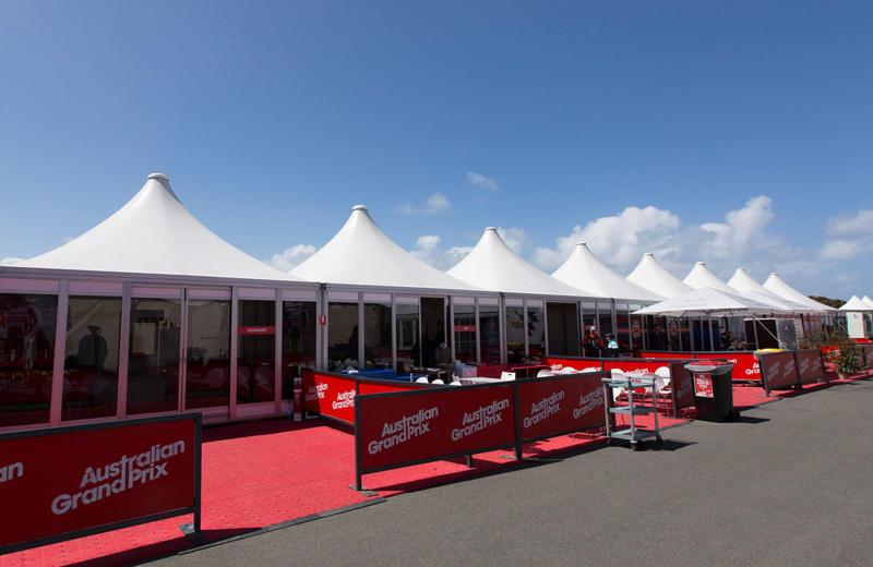 Australia grandprix event tent ...