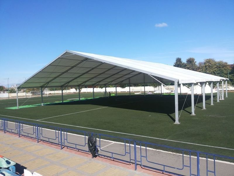 Large outdoor football field sport tent