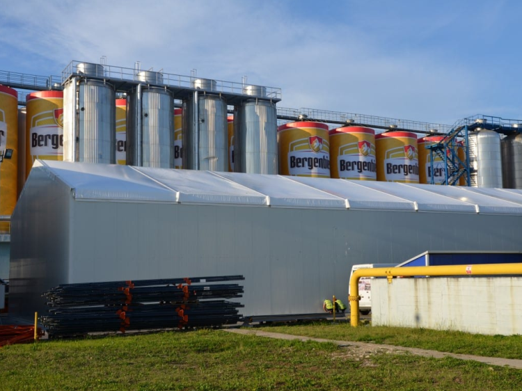 Storage Warehouse tent used for Brewery