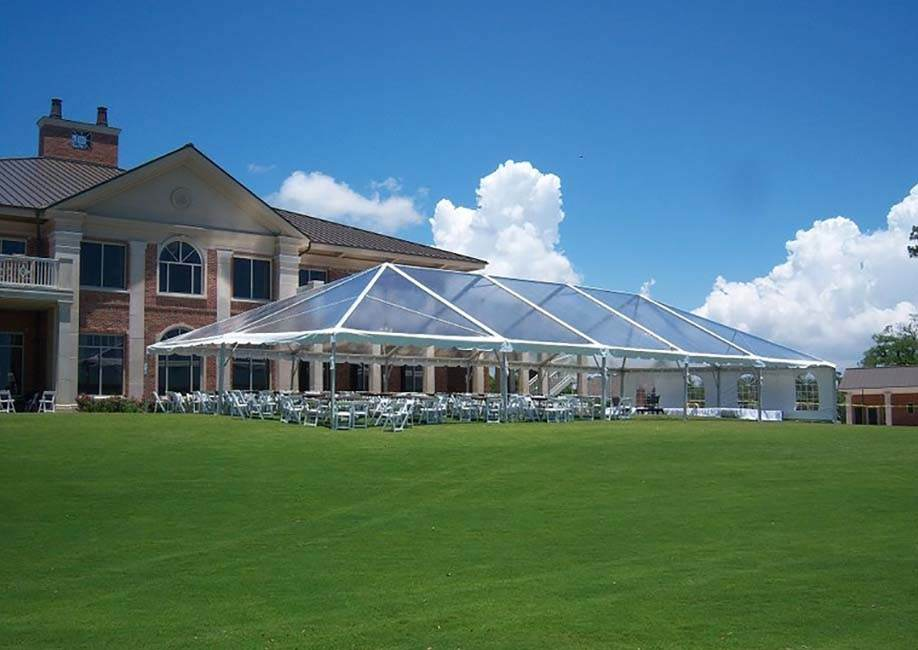 Glass curtain wall exhibition tent