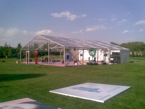 Detailed description of the composition of the glass tent