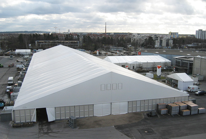 Exhibition tent with a height of 4 meters