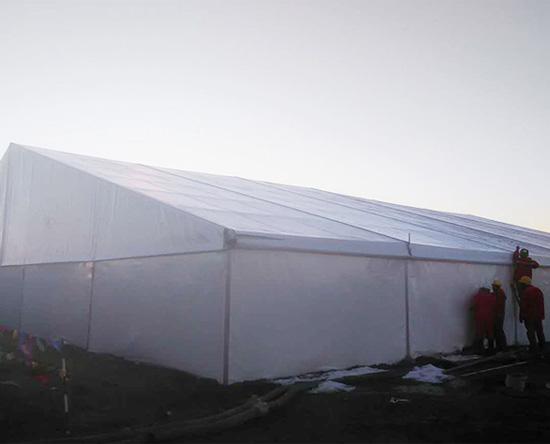 Multi-standard warehouse tent customization