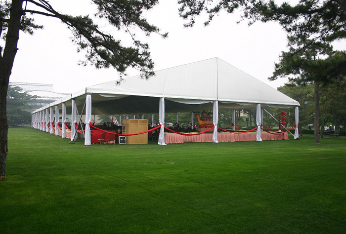 Elegant atmosphere of the A Frame tent