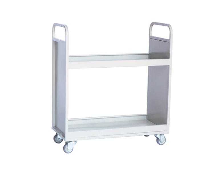 两层带护边书车
