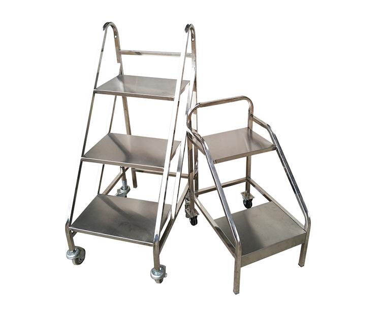 不锈钢三步书梯