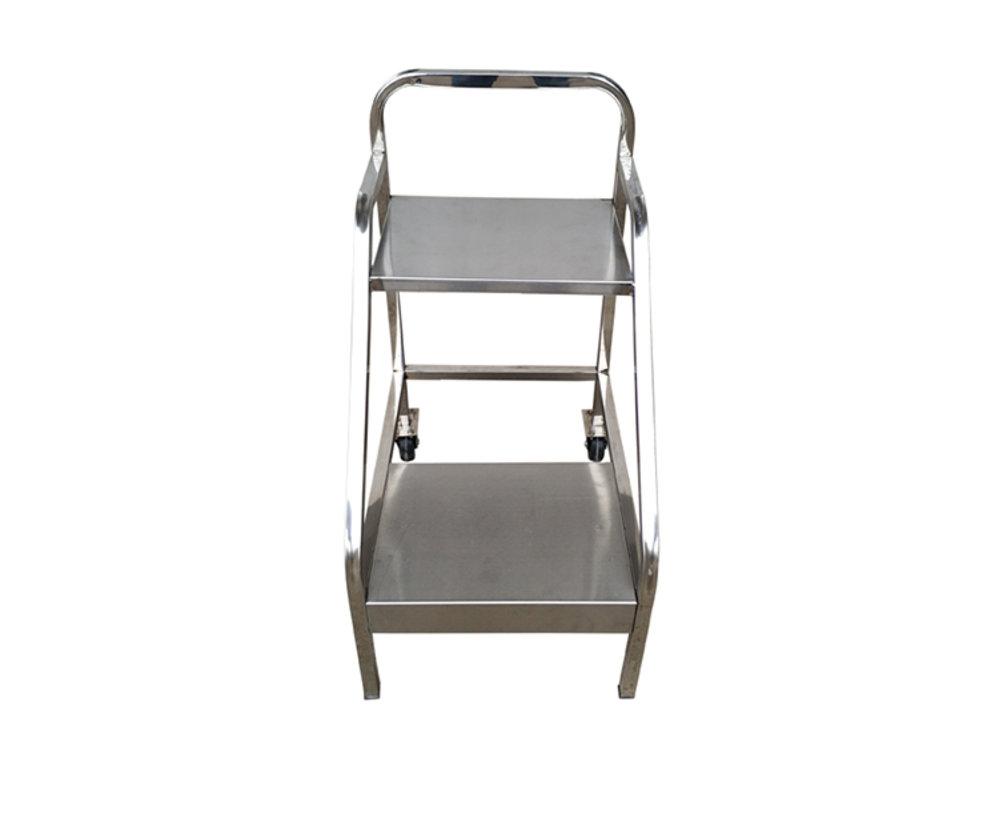 不锈钢两步书梯