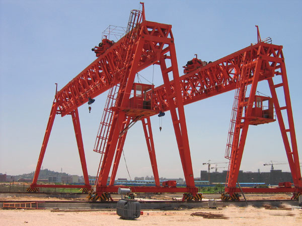 Double Girder Grab Gantry Crane For Bulk Goods