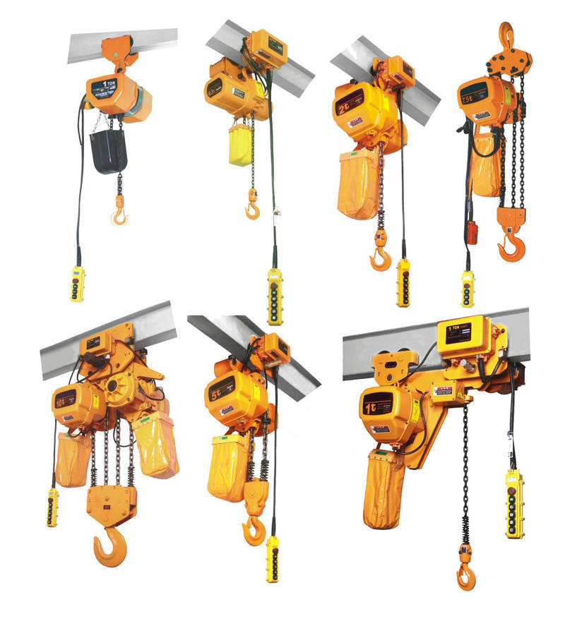 Materials for components of electric chain hoist