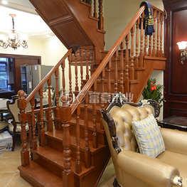 富豪楼梯榉木拉线整体楼梯