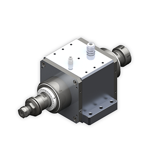Two-axis electric spindle
