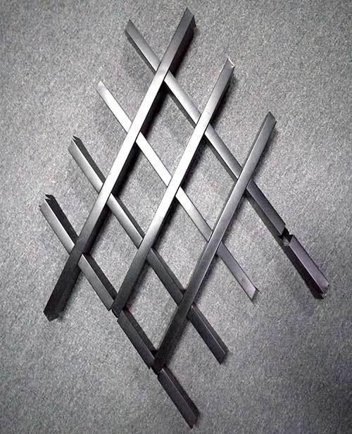 菱形铝格栅